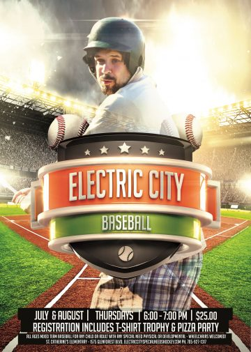 Electric City Baseball T-Shirt Order Page
